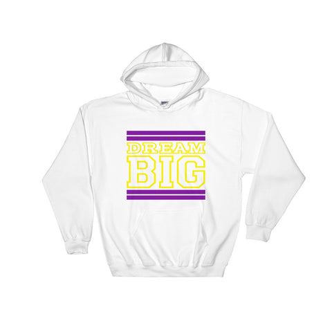 White Purple and Yellow Hooded Sweatshirt