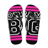 Pink and White Dream Big Flip-Flops