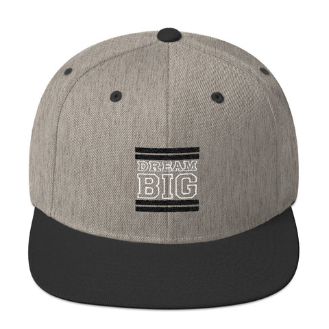 Grey and Black Dream Big Snapback Hat