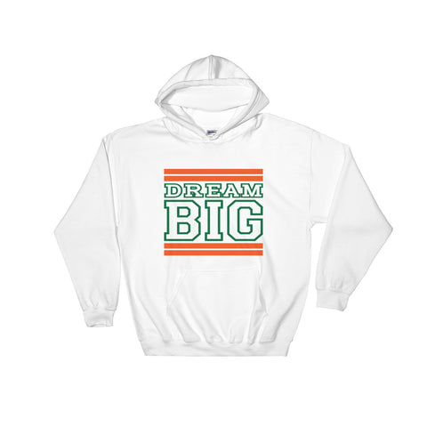 White Orange and Green Hooded Sweatshirt