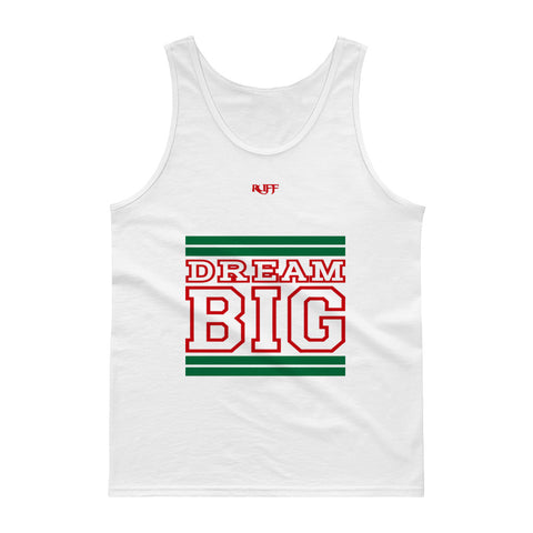 Green and Red Dream Big Tank tops