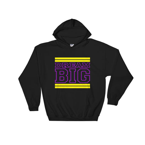 Black Yellow and Purple Hooded Sweatshirt