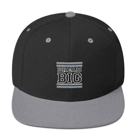 Black and Grey Dream Big Snapback Hat