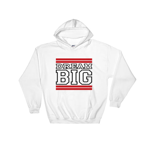 White Red and Black Hooded Sweatshirt