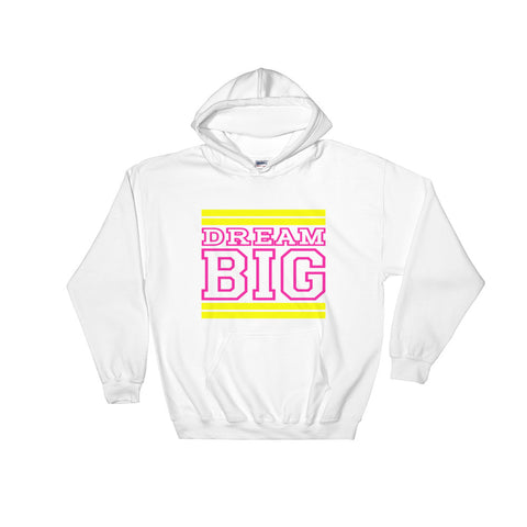 White Yellow and Pink Hooded Sweatshirt