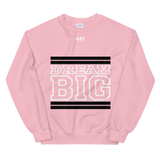 Light Pink Black and White Unisex Sweatshirt
