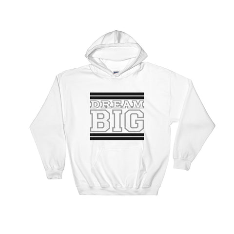 White Black and Grey Hooded Sweatshirt
