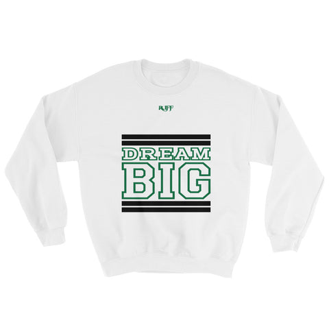 White Black and Green Sweatshirt