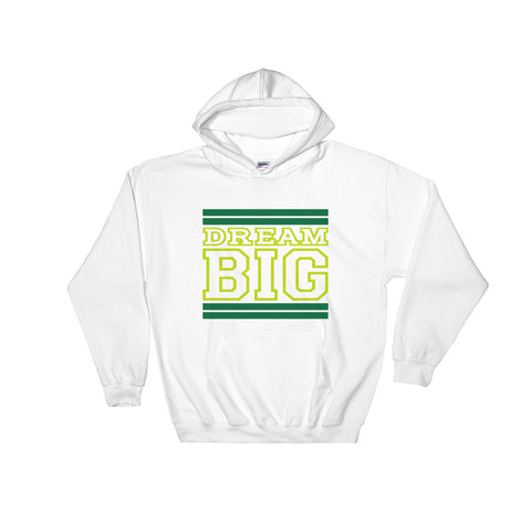 White Green and Lime Green Hooded Sweatshirt
