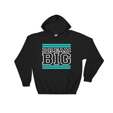 Black Teal and White Hooded Sweatshirt
