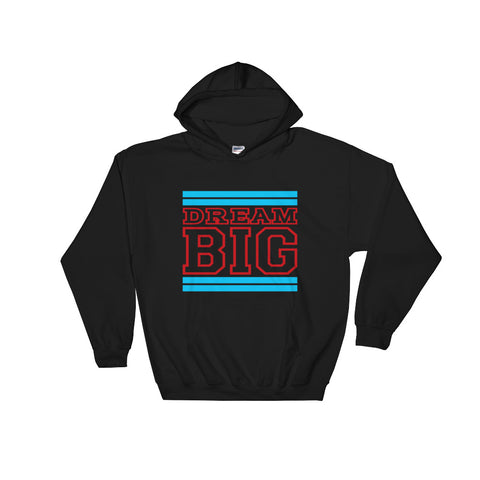 Black Carolina Blue and Red Hooded Sweatshirt