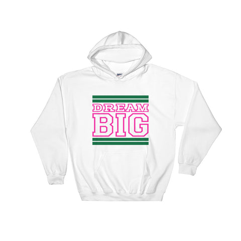 White Green and Pink Hooded Sweatshirt