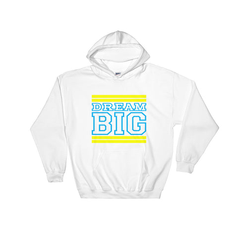 White Yellow and Carolina Blue Hooded Sweatshirt