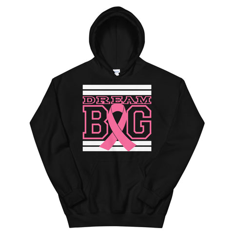 Black White and Pink Breast Cancer Awareness Unisex Hoodie