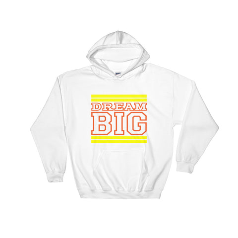 White Yellow and Orange Hooded Sweatshirt