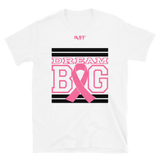 White Black and Pink Breast Cancer Awareness Short-Sleeve Unisex T-Shirt