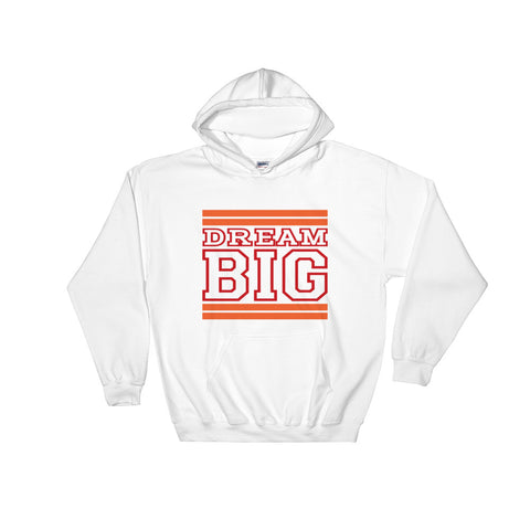 White Orange and Red Hooded Sweatshirt