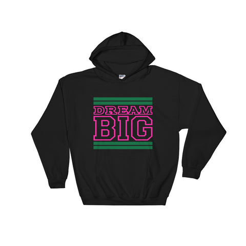 Black Green and Pink Hooded Sweatshirt
