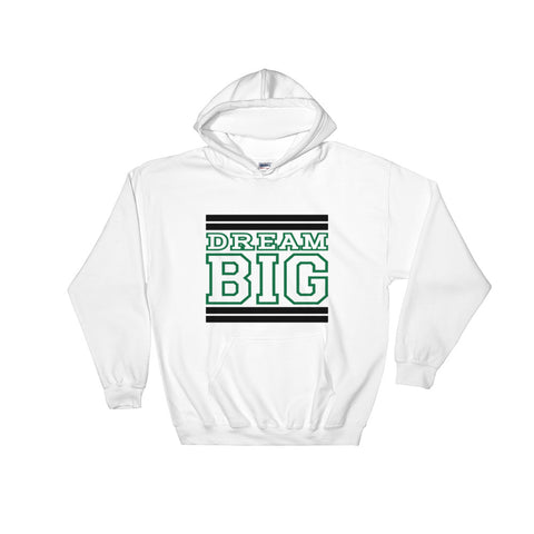 White Black and Green Hooded Sweatshirt