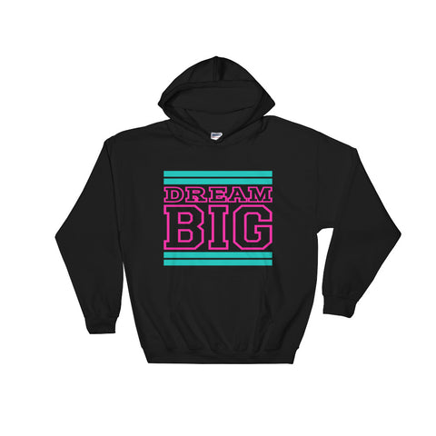 Black Teal and Pink Hooded Sweatshirt