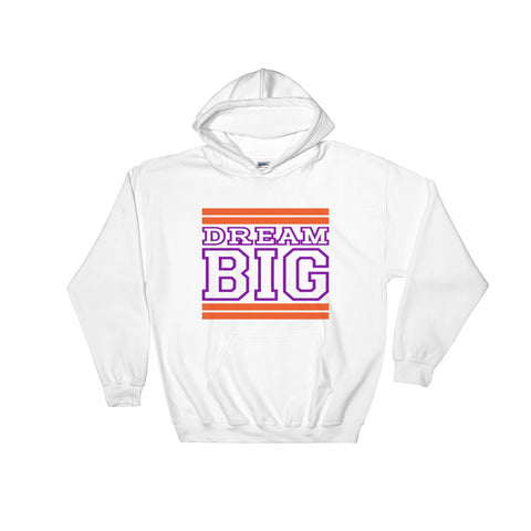 White Orange and Purple Hooded Sweatshirt