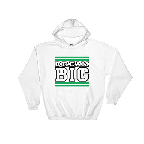 White Green and Black Hooded Sweatshirt