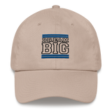 Royal Blue and Black Dream Big Lifestyle Dad hat