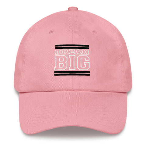 Light Pink Black and White Dad hat