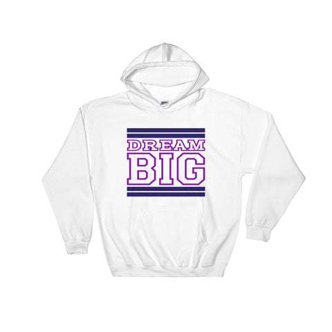 White Navy and Purple Hooded Sweatshirt