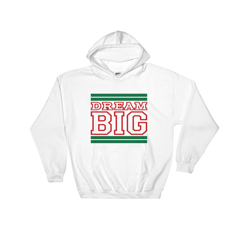 White Green and Red Hooded Sweatshirt