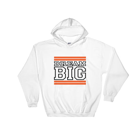 White Orange and Black Hooded Sweatshirt
