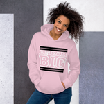 Pink Black and White Unisex Hoodie