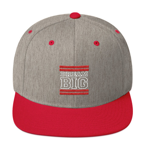 Grey and Red Dream Big Snapback Hat
