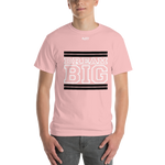 Light Pink Black and White Short Sleeve T-Shirt