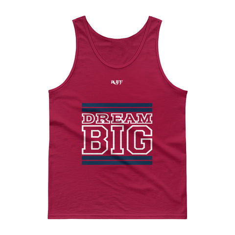 Navy and White Dream Big Tank tops