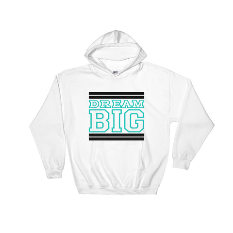 White Black and Turquoise Hooded Sweatshirt