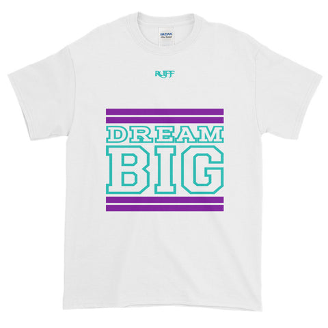 White Purple and Teal Short-Sleeve T-Shirt