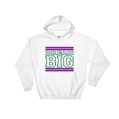 White Purple and Green Hooded Sweatshirt
