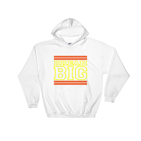 White Orange and Yellow Hooded Sweatshirt