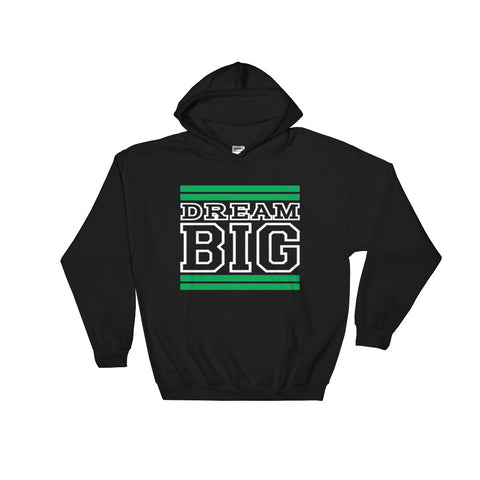 Black Green and White Hooded Sweatshirt