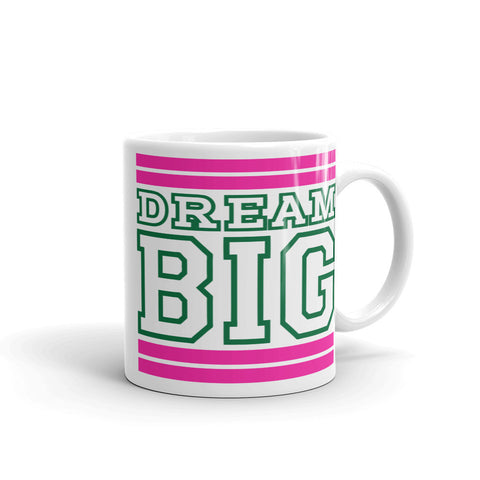White Pink and Green Mug (11 oz.)