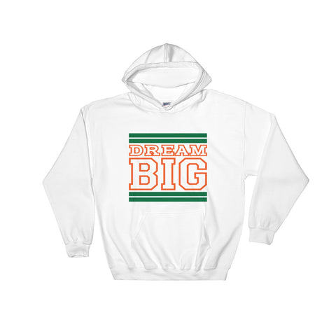 White Green and Orange Hooded Sweatshirt