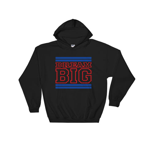 Black Royal Blue and Red Hooded Sweatshirt