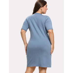 Knot Front Dress Plus Size
