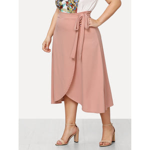 Knot Side Wrap Skirt