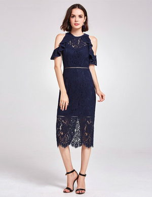 High Waist Lace Cocktail Dresses