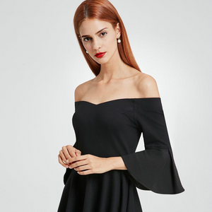 Flare Sleeve Cocktail Party Dresses