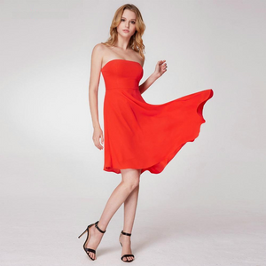Tea Length Strapless Cocktail Dresses