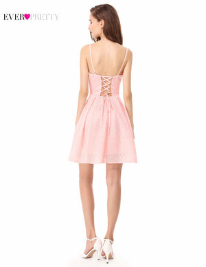 Pink Lace Up Party Dresses
