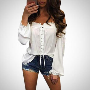Off Shoulder summer blouse